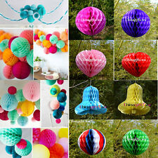 Multi-choice colors&size honeycomb tissue ball paper lanterns wedding decoration