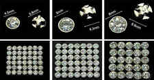 Selections of Sew On Clear Crystal Diamante Rhinestones - Round Base Mount