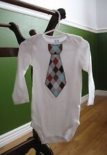 Custom Trendy Tie Onesies -- Size & Fabric Choice!  Baby Boy Boutique