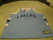 LOS ANGELES LAKERS MAJESTIC HARDWOOD CLASSIC RETRO SKY BLUE JERSEY NEW WITH TAGS