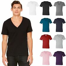 Canvas Mens Unisex Deep V-Neck T-Shirt Tee XS -2XL Men's 3105