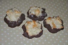 Coconut Macaroon Cookies Plain Vanilla or Chocolate dipped! Chewy! Edible Gift!