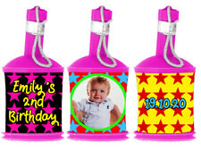 Personalised STARS PARTY POPPER WRAPPERS ONLY with Photo for Childrens Birthday