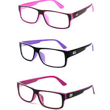 Women's Clear Lens Fashion Glasses 2-Tone Frame Designer Style Cute Nerdy