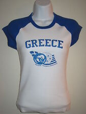 GREECE ( HELLAS ) Football Federation  Girl's -Junior Cap sleeve shirt