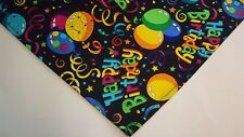 Dog Bandana/Scarf Tie On Happy Birthday Custom Made by Linda  Xs, S, M, L
