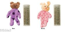 Kong Pajama Buddy Soft Plush Refillable Catnip toy choose Bear or Bunny NEW