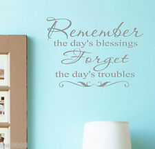 Blessings Vinyl Wall Decal Lettering Family Words Decor