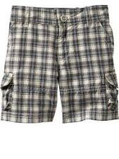 NWT Baby Gap Toddler Boys Plaid Blue Brown Double Pocket Cargo Shorts $29.50