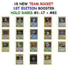 NEW 1ST EDITION TEAM ROCKET BOOSTER HOLO RARE CARDS #1-17 + #83 YOU PICK ONE!