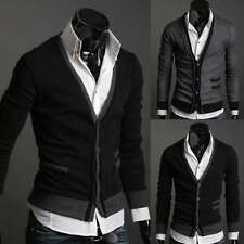 ZC6094 New Mens Fashion Casual Slim Fit Long Sleeve Sweaters Shirts 2 colors