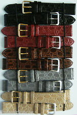 WATCH SRAP 18MM GENUINE QUALITY LEATHER CROC SKIN EFFECT VARIOUS COLOURS BARGAIN