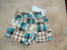 NWT GYMBOREE LITTLE SURFER DUDE PATCHWORK PLAID FLORAL SHORTS LAYETTE