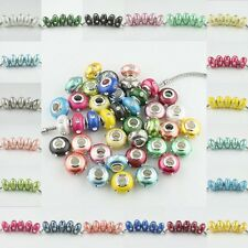 WHOLESALE CRYSTAL CLEAR FIMO POLYMER CLAY FINDINGS EUROPEAN CHARMS BEADS 15MM