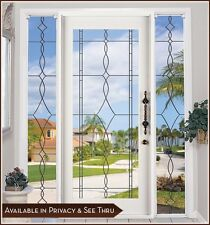 ALLURE Leaded Glass Look Static Cling Window Film - Great for French Doors &More