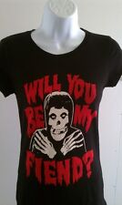 MISFITS WOMENS T-SHIRT WILL YOU BE MY FIEND RARE BAND TEE SM MED LG XL