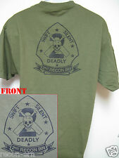 USMC 2ND RECON BN T-SHIRT/ MILITARY/ NEW/ 2ND MARINE DIVISION