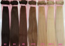 "20"" CLIP ON IN HUMAN HAIR EXTENSIONS 160 GRAMS OF HAIR ! BLONDE BROWN BLACK"