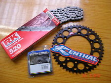 RK Chain And Black Renthal Sprocket Kit CR CRF 125/250/450/500 R X Motocross