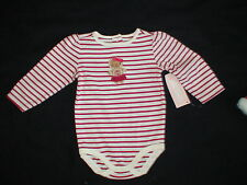 NWT GYMBOREE GINGERBREAD GIRL STRIPED BODYSUIT TOP CHRISTMAS LAYETTE