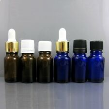 1-100pcs Glass Bottle Essential Oil Aromatherapy Cosmetic 3 Kinds Screw Cap 10ml