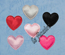 "U PICK~ 3/4"" 20mm Padded Satin Heart Appliques Sew On Trims Dolls x 150pcs #2402"