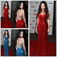 Jessica Rabbit Red Sequin Long Formal Gown Evening Prom Halloween Party Dress