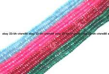 """2x4mm Jade roundel faceted loose Beads 15"""""""