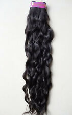 CLIP ON IN WAVY HAIR EXTENSIONS  DELUXE SET 220 GRAMS HAIR ALL LENGTHS #1 BLACK