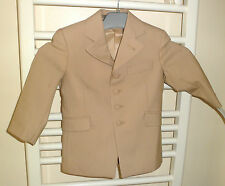 BOYS FORMAL DRESS JACKETS COATS WEDDING FAWN SIZES 20 2 24 AND 26