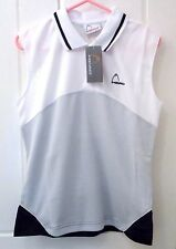 NEW SPORTY HEAD VEST TOP GREY AND WHITE SIZES 12 AND 16