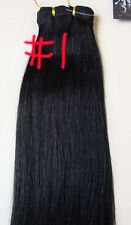 REMY HUMAN DELUXE WEFT HAIR EXTENSIONS #1 BLACK 280 GRAMS THICK ENDS BODY BLING