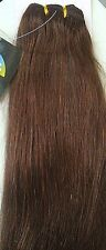 REMY HUMAN WEFT HAIR EXTENSIONS #4 BROWN 200 GRAMS OF HAIR THICK ENDS BODY BLING