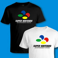 SUPER NINTENDO CONSOLE [SNES] T SHIRT - 90s VINTAGE, RETRO VIDEO GAMES, GAMING