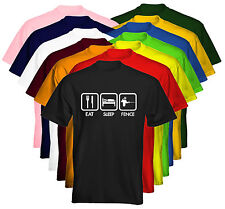*NEW* Kids T-Shirt Eat Sleep Fence Fencing Size & Colour Options