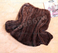 100% Real Genuine Knit Mink Fur Coat Jacket Outwear Garment Lady Sweater Fashion