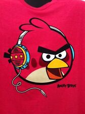 Angry Birds From APP Listening to Beats On Headphones Music Beats Mens TShirt