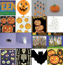 PUMPKIN GLOW HALLOWEEN TRICK OR TREAT PARTY DECORATIONS PLATES CUPS NAPKINS ETC