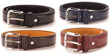 Mens Leather Lined / Bonded Trouser Belt 30mm Width New BNWT Ossi 5026