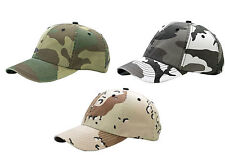NEW CAMOUFLAGE WASHED LOW PROFILE HAT CAP ARMY CAMO  MANY COLORS AVAILABLE