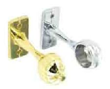SECURIT END BRACKETS 25MM CHROME OR BRASS PLATED 2