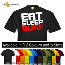 *NEW* Mens T-Shirt Eat Sleep Surf  Surfing Surfer Size & Colour Options Logo 2