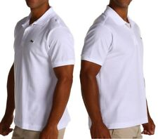 NWT LACOSTE BRAND MENS White Classic Croc Logo Embroidery Polo Shirts  S M L XL