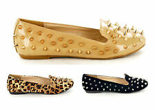 New Women's Full Spike/Stud Slip On Pump Shoes Slippers Loafers Avail In Sz 3-8