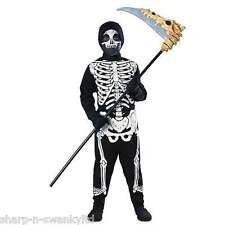 Boys Girls Halloween Skeleton Jumpsuit Fancy Dress Costume Outfit 3-10 years