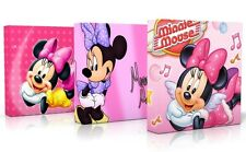 3 X DEEP EDGE CANVAS PICTURES PINK MINNIE MOUSE  FREE P&P NEW