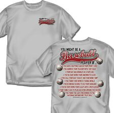 You might be a Baseball Player If - T-Shirt - Youth Szs