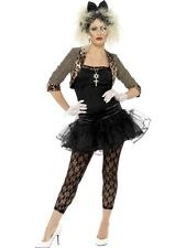 LADIES 1980's MADONNA FANCY DRESS COSTUME 80s WOMENS GIRLS WILD CHILD OUTFIT NEW