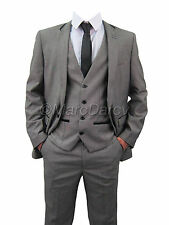 MARC DARCY DESIGNER NXR MENS GREY 3PC. SUIT IDEAL FOR WEDDINGS IN ALL UK  SIZES