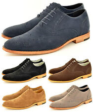 New Mens Faux Suede Casual Formal Lace Up Brogue Fashion Shoes In UK Sizes 6-11